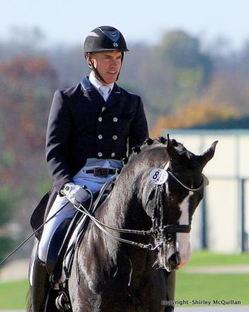 James Koford & Doctor Wendell MF enjoyed their winning ride in the Prix St. Georges Open Championship.