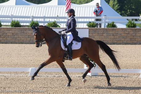 Jodie Kelly-Baxley and Caymus (Photo: Emma Miller/PS Dressage)
