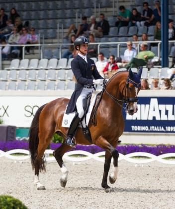 Juan Matute Guimon and Quantico Ymas win first place in the 2016 World Equestrian Festival CHIO Aachen Under 25 Grand Prix