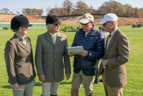 The judges in discussion during the 2016 Field Hunter Championships at TIEC.