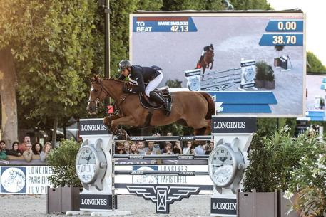 Julien Epaillard (FRA) riding Usual Suspect D'auge during the Longines Global Champions Tour Grand Prix of Paris, Global Champions Tour at Paris on July 01st, 2017 in Paris, France.