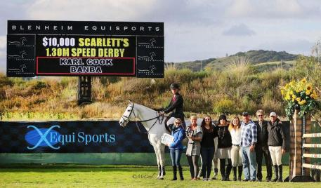Karl Cook and Banba win the 0,000 Scarlett's Speed Derby for the second year in a row