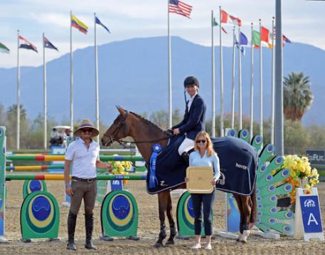 Karl Cook and Basimodo winning the $25,000 SmartPak Grand Prix.