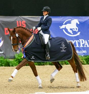 "Katherine Lewis of South Carolina had the ""best day of my life"" in winning the Fourth Level Adult Amateur Freestyle Championship at the 2016 US Dressage Finals presented by Adequan®."