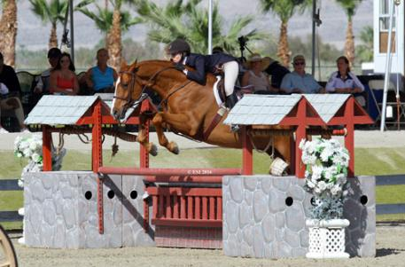 Katie Gardner and Maldini on their way to a $5,000 Devoucoux Hunter Prix win.