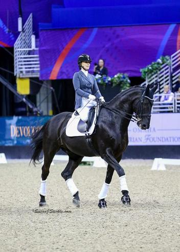 Para rider Katie Jackson on Royal Dancer