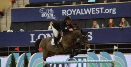 Keean White and Carrera Van Het Westleven Z winner of $35,000 Synoil Royal West International Championship, PHASE 2 1.45 m