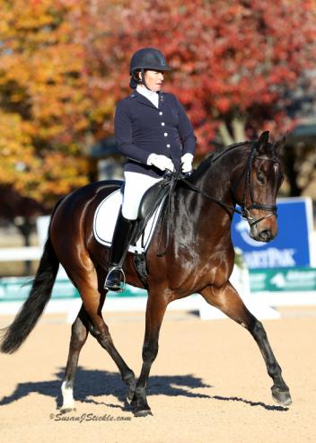 Kendall Brookhart waited two years for her chance to come to Kentucky, and now will go home to Arizona with the Second Level Adult Amateur Freestyle Championship title from the 2016 US Dressage Finals presented by Adequan®.