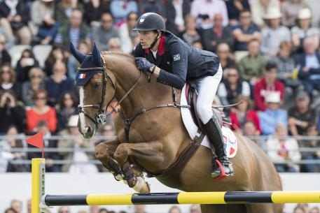 The Olympic team gold medal winning partnership of Kevin Staut and the gallant 16-year-old Reveur de Hurtebise HDC clinched victory for the host nation at the second leg of the FEI Nations Cup™ Jumping 2017 Europe Division 1 at La Baule, France today.