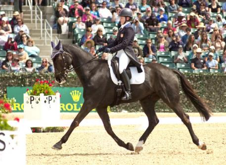 Kim Severson showed she's back at the top with a strong dressage performance from Cooley Cross Border.