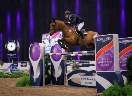 Peter Lutz (USA) and Robin de Ponthual claim victory of the 00,000 Longines FEI World Cup™ Jumping North American League qualifier in Las Vegas (USA)