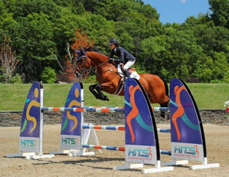 Laura Chapot and Out of Ireland on their way to a 0,000 Brook Ledge Open Welcome Grand Prix win.