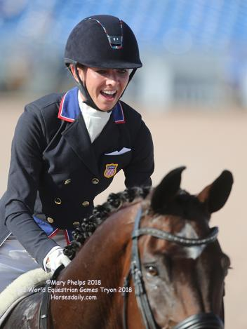 Laura Graves at FEI World Equestrian Games Tryon 2018