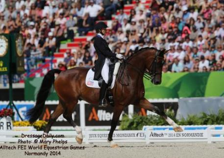 Laura Graves and Verdades at the Alltech FEI World Equestrain Games Normandy  Photo: © Mary Phelps 2014