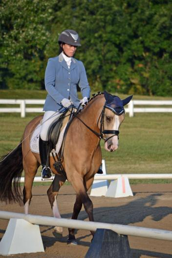 Lauren Chumley & Nikolas started their day off right with a win at Open Training Level during the first day of the National Dressage Pony Cup. (Photo: Jennifer M. Keeler)
