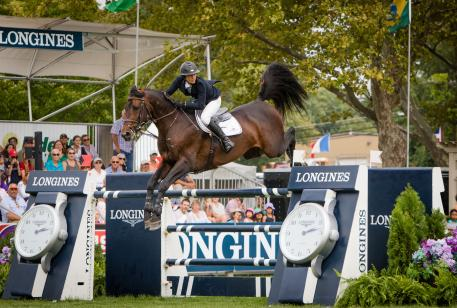 Longines FEI World CupTM Jumping North American league, New York (18 September 2016), Lauren Tisbo (USA) and Coriandolo di Ribano, third place in the qualifier of this exciting league.