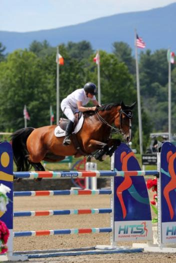 Leslie Burr Howard and Utah on their way to a $75,000 Horze Equestrian Grand Prix win.