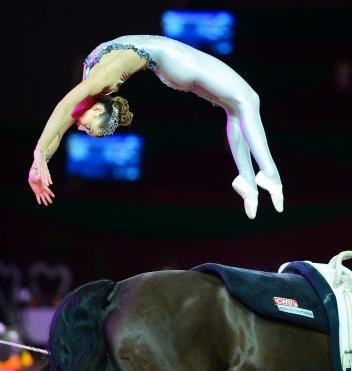 "Austria's Lisa Wild, the ""backflip queen"", won the Individual Female title at the 2014/2015 FEI World Cup™ Vaulting Final in Graz (AUT) last February."
