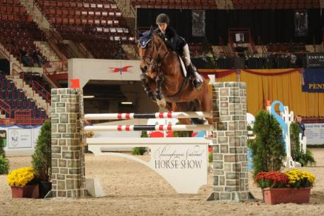 Lucy Deslauriers and Hester, PA national horse show 2015