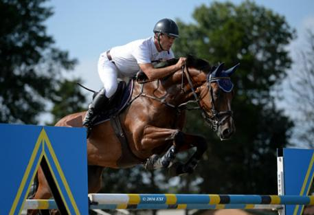 Manuel Torres and Christofolini H on their way to a $25,000 Brook Ledge Grand Prix win.