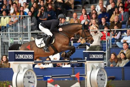 Germany's Marcus Ehning produced a breath-taking jump-off round with the stallion Comme Il Faut to win the sixth leg of the Longines FEI World Cup™ Jumping 2016/2017 Western European League in Madrid, Spain today.