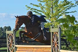 Maria Rasmussen of Sea Change Farm, won the USHJA National Hunter Derby in 2014.