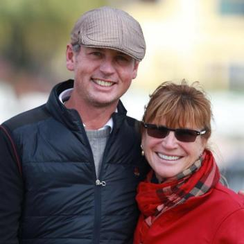 Carl Hester with Mary Phelps