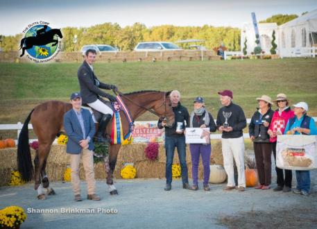 Four-year-old USEA Young Event Horse East Coast Champion Matthew Flynn and 2 A.M.