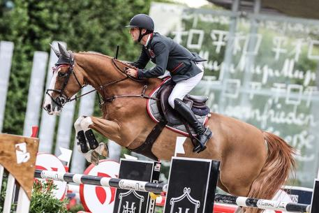 Pieter Devos (BEL) riding Apart during the Global Champions League - First Competition  presented by Oddo, Global Champions Tour at Paris on June 30th, 2017 in Paris, France.