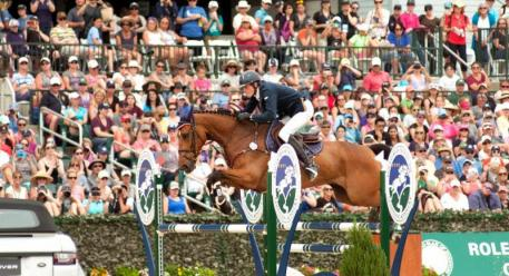 Maxime Livio and Qalao Des Mers of France were nearly perfect, but had to settle for second place at Rolex Kentucky.