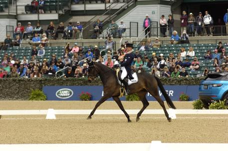 Michael Jung (GER) on fischerRocana FST sits in the lead after Thursday Dressage at the 2018 Land Rover Kentucky Three-Day Event