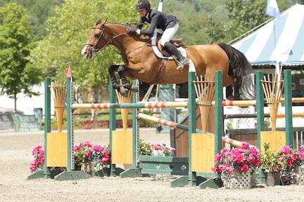 Mckayla Langmeier and Promised Land won the 0,000 Show Jumping Hall of Fame High Junior/Amateur-Owner Jumper Classic, presented by Dr. Robert Barber and Team Barber, on Sunday, August 9, at the Vermont Summer Festival in East Dorset, VT. Photo by David Mullinix Photography