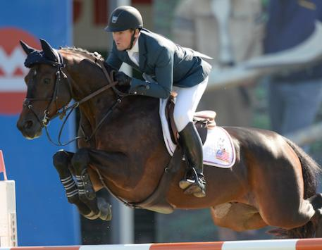 McLain Ward of USA riding HH Carlos Z in the TELUS Cup at the Spruce Meadows Masters. (Photo: © Spruce Meadows Media Services)