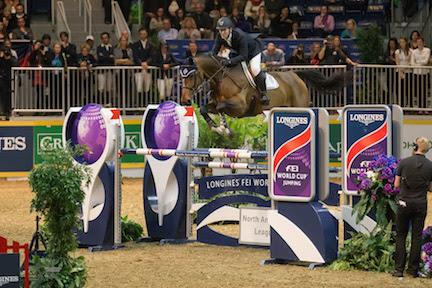 Mclain Ward of the United States and HH Azur jumped to victory in the 32,000 Longines FEI World Cup™ Jumping Toronto on Wenesday, November 11 at the Royal Horse Show®.