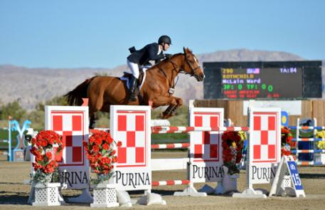 McLain Ward and Rothchild win the 00,000 Coachella Classic at National Sunshine Series II in Thermal, CA.