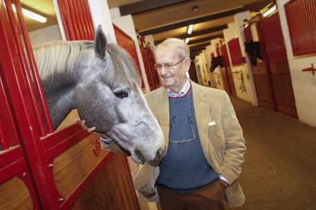 Leon Melchior, founder of the world-renowed Zangersheide Stud, who has passed away at the age of 88.