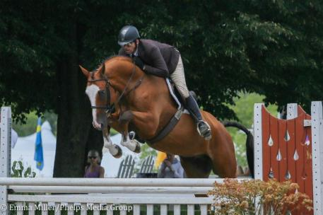 "Michael Tokaruk and Major in the Performance 3'6"" Hunter division"