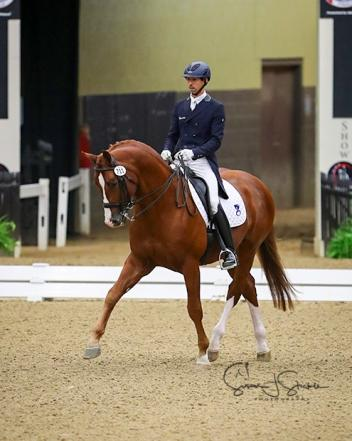 Michael Bragdell and Qredit Hilltop were crowned Intermediate II Open Champions at the 2017 US Dressage Finals presented by Adequan®.