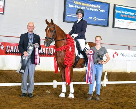 Mimi Stanley was presented with the Custom Saddlery MVR (Most Valuable Rider) Award at the 2017 AHA Canadian Nationals
