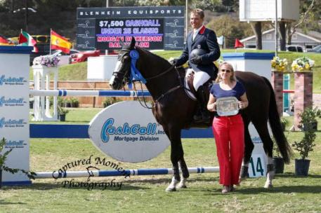 Morgan Dickerson and Balou Blom with Melissa Brandes of Blenheim EquiSports