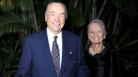 Stanley Rumbough Jr., pictured with his wife Janne Rumbough in 2012, has died at age 97. Meghan McCarthy / Daily News File Photo