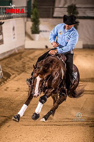 NRHA Million Dollar Rider Bernard Fonck rode What A Wave (Tidal Wave Jac x What A Sunrise) to yet another championship