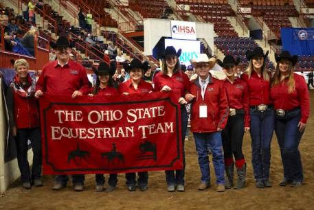 Ohio State University, led by the Griffith family was the reserve champion AQHA Team.