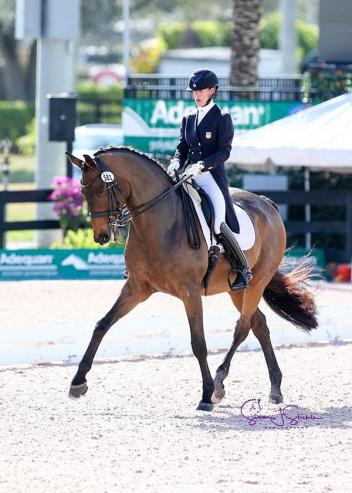 Olivia LaGoy-Weltz and Lonoir capture the CDI5* Grand Prix (to qualify for the special) from last draw. (Photo: ©SusanJStickle)