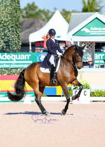 Olivia LaGoy-Weltz and the 14-year-old Lonoir cruise to victory with a mistake-free ride in the Grand Prix CDI4* and will now contest the Friday night freestyle under lights