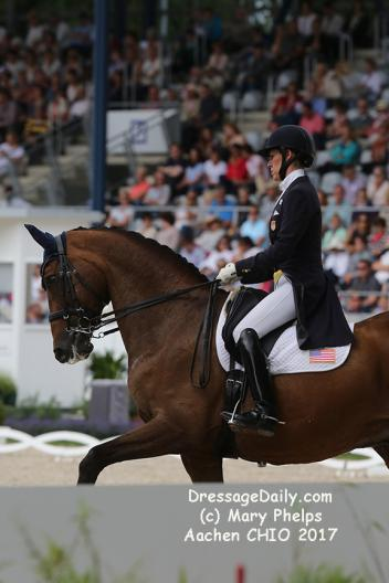 Olivia LaGoy Weltz and Rassing's Lonoir at Aachen 2017