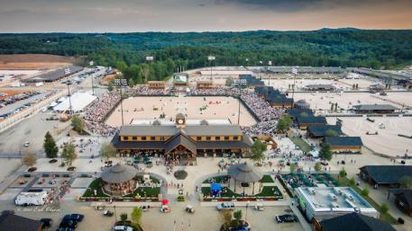 An aerial view of TIEC during the Grand Opening Ceremonies on June 6, 2015 ©ErikOlsen
