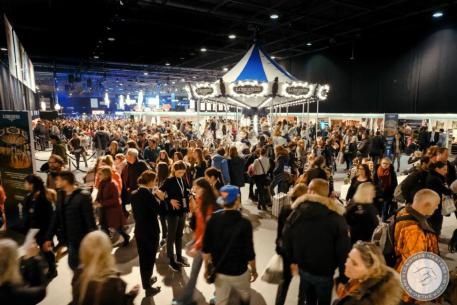 Guests enjoy the Longines Vintage Carousel and the Prestige Village at Longines Masters of Paris