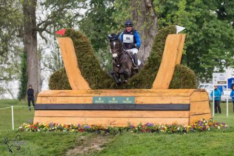 Phillip Dutton and Mighty Nice are third in the Rolex Kentucky Three-Day Event, presented by Land Rover.