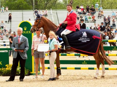 eteran competitors Phillip Dutton and Mr. Medicott took home the Roger Haller Memorial Trophy for the Rolex/USEF CCI4* Eventing National Championship.